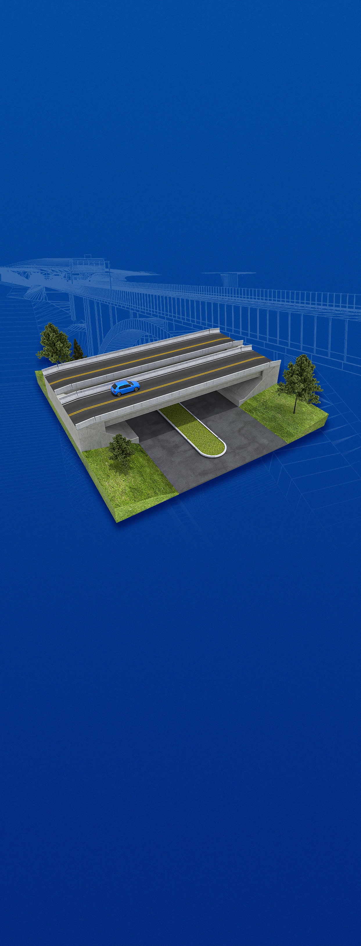 Realistic depiction of the planned D3 motorway in 3D